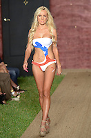 Annie Karns Lopez walks runway at Wet Couture Swimwear Show during Funkshion Fashion Week Miami Beach Swim 2013 at Miami Beach, FL on July 18, 2012