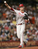 Philadelphia Phillies pitcher Kyle Kendrick on Thursday May 22nd at Minute Maid Park in Houston, Texas. Photo by Andrew Woolley / Baseball America..