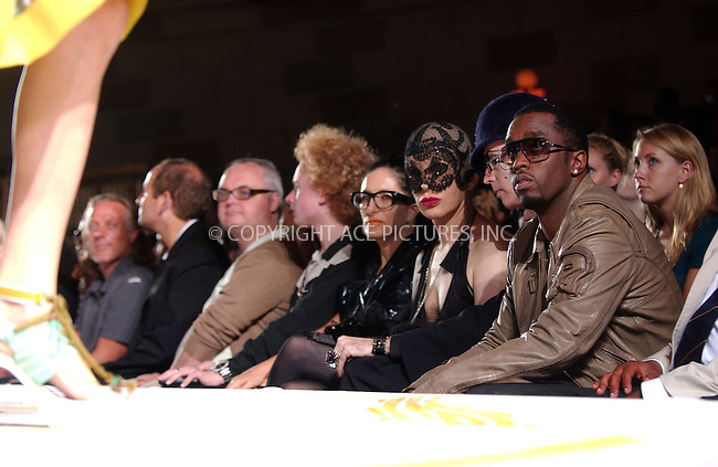 WWW.ACEPIXS.COM . . . . . ....September 11 2007, New York City....Sean Puffy Combs watches the Heatherette Spring 2008 show during Mercedes-Benz Fashion Week at Gotham Hall in Manhattan.....Please byline: KRISTIN CALLAHAN - ACEPIXS.COM.. . . . . . ..Ace Pictures, Inc:  ..tel: (646) 679 0430..e-mail: picturedesk@acepixs.com..web: http://www.acepixs.com