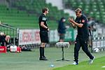 Florian Kohfeldt (Trainer SV Werder Bremen) jubel 1:0<br /> <br /> <br /> Sport: nphgm001: Fussball: 1. Bundesliga: Saison 19/20: 34. Spieltag: SV Werder Bremen vs 1.FC Koeln  27.06.2020<br /> <br /> Foto: gumzmedia/nordphoto/POOL <br /> <br /> DFL regulations prohibit any use of photographs as image sequences and/or quasi-video.<br /> EDITORIAL USE ONLY<br /> National and international News-Agencies OUT.