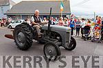 Paudi Reidy (Ballyheigue) on the Ferguson Grey TVO at the Ballyheigue Summer Fest Parade on Sunday