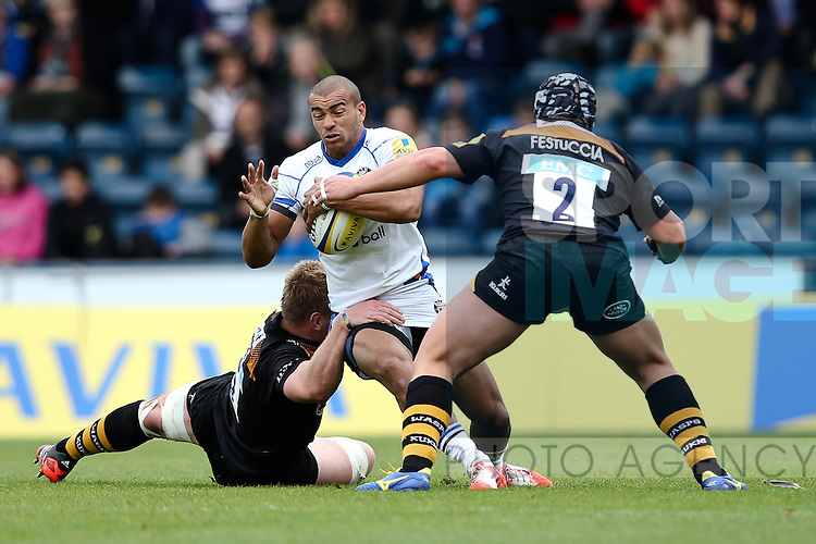- Rugby Union - 2014 / 2015 Aviva Premiership - Wasps vs. Bath - Adams Park Stadium - London - 11/10/2014 - Pic Charlie Forgham-Bailey/Sportimage