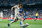 Gareth Bale (L) of Real Madrid is tackled by Leandro Cabrera Sasia of Getafe CF during the La Liga 2018-19 match between Real Madrid and Getafe CF at Estadio Santiago Bernabeu on August 19 2018 in Madrid, Spain. Photo by Diego Souto / Power Sport Images