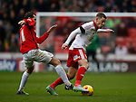 Paul Coutts of Sheffield Utd tackled by James O'Brien of Coventry City - English League One - Sheffield Utd vs Coventry City - Bramall Lane Stadium - Sheffield - England - 13th December 2015 - Pic Simon Bellis/Sportimage-