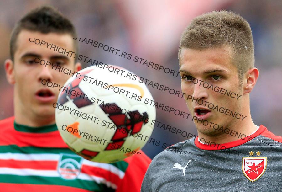 Fudbal Jelen Super League season 2014-2015 <br /> Donji Srem v Crvena Zvezda<br /> Darko Lazovic (R)<br /> Novi Sad, 29.04.2015.<br /> foto: Srdjan Stevanovic/Starsportphoto&copy;
