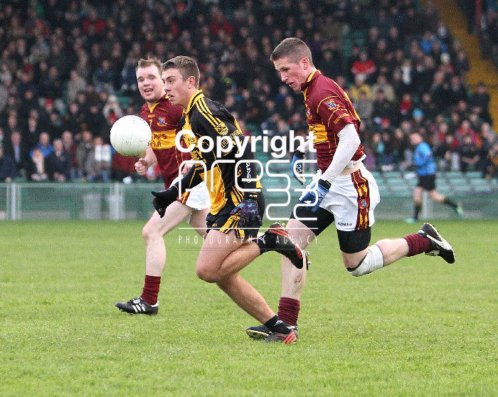 23/11/13 Clyda Rovers Cian O Sullivan breaks away from St Joseph's Eoin Cleary when the two sides met in The Gaelic Grounds for the Munster Intermediate Final on Saturday. Pic Tony Grehan / Press 22
