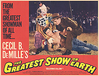 The Greatest Show on Earth (1952) <br /> Lobby card with Charlton Heston, Cornel Wilde &amp; James Stewart<br /> *Filmstill - Editorial Use Only*<br /> CAP/MFS<br /> Image supplied by Capital Pictures