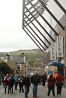 Burnley fans arrive at Turf Moor, home of Burnley Football Club<br /> <br /> Photographer Rich Linley/CameraSport<br /> <br /> The Premier League - Burnley v Huddersfield Town - Saturday 6th October 2018 - Turf Moor - Burnley<br /> <br /> World Copyright &copy; 2018 CameraSport. All rights reserved. 43 Linden Ave. Countesthorpe. Leicester. England. LE8 5PG - Tel: +44 (0) 116 277 4147 - admin@camerasport.com - www.camerasport.com
