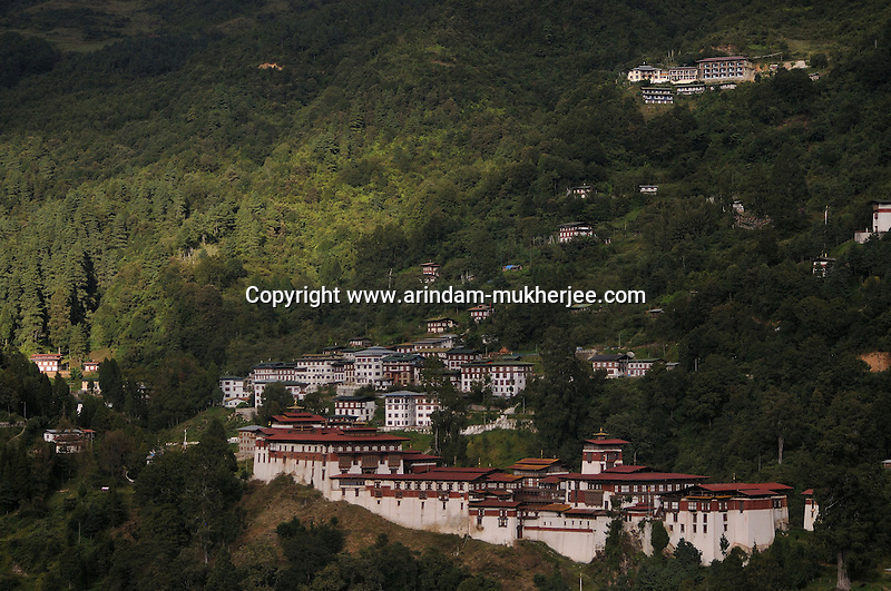 Chökhor Raptentse Dzong or Trongsha Dzong at Trongsa which was built in 1644, used to be the seat of power of the Wangchuck dynasty before it became rulers of Bhutan in 1907. Traditionally the King of Bhutan first becomes the Penlop (governor) of Trongsa before being named Crown Prince and eventually King. Built on a mountain spur high above the gorges of the Mangde Chhu, the dzong controlled east-west trade for centuries. The only road connecting eastern and western Bhutan (the precursor to the modern Lateral Road), passed through the courtyard of the dzong. At the command of the penlop the massive doors could be shut, dividing the country in two.  Arindam Mukherjee..