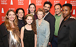 Clare Lizzimore, Gaye Taylor Upchurch, Fina Strazza, Rebecca Hall, Kristin Griffith, Morgan Spector, Greg Keller and David Pegram attends the Opening Night of the Atlantic Theater Company's New York Premier play 'Animal' at Jake's Saloon on June 6, 2017 in New York City.