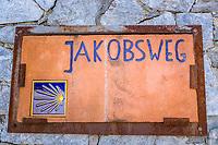 Italy, South Tyrol (Trentino - Alto Adige), Val Venosta, Glurns (Italian-Glorenza): the only town in Val Venosta, the South Tyrolean Camino de Santiago passes Glurns   Italien, Suedtirol (Trentino - Alto Adige), Vischgau, Glurns: die einzige Stadt im Vinschgau, der Suedtiroler Jakobsweg fuehrt an Glurns vorbei