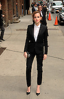NEW YORK, NY - MARCH 25,2014: Actress Emma Watson visits The Late Show With David Letterman at the Ed Sullivan Theater, New York City ,March 25, 2014 in New York City. HP/Starlitepics