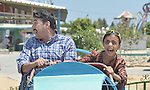 A man and his daughter, still traumatized by war, enjoy a trip to an amusement park in Gaza City. The outing was sponsored by the Al Ahli Arab Hospital, a member of the ACT Alliance, and financed by the Pontifical Mission for Palestine and Misereor.