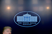 United States President Donald Trump speaks during a CEO town hall on the American business climate in the South Court Auditorium of the White House in Washington, DC, April 4, 2017.<br /> Credit: Olivier Douliery / Pool via CNP