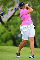 Angela Stanford (USA) watches her tee shot on 3 during round 3 of  the Volunteers of America Texas Shootout Presented by JTBC, at the Las Colinas Country Club in Irving, Texas, USA. 4/29/2017.<br /> Picture: Golffile | Ken Murray<br /> <br /> <br /> All photo usage must carry mandatory copyright credit (&copy; Golffile | Ken Murray)