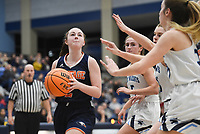 Heritage Lanee Knight (2) shoots, Friday, February 7, 2020 during a basketball game at Wildcat Arena at Har-Ber High School in Springdale. Check out nwaonline.com/prepbball/ for today's photo gallery.<br /> (NWA Democrat-Gazette/Charlie Kaijo)