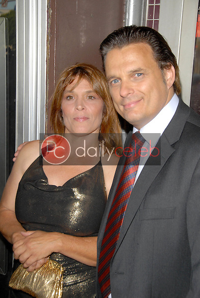 Calista Carradine and Damian Chapa<br />