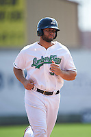 Clinton LumberKings designated hitter Kristian Brito (35) runs the bases on a Adam Martin (not shown) home run during a game against the Great Lakes Loons on August 16, 2015 at Ashford University Field in Clinton, Iowa.  Great Lakes defeated Clinton 3-2.  (Mike Janes/Four Seam Images)