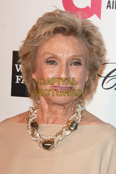 WEST HOLLYWOOD, CA - FEBRUARY 22: Cloris Leachman at the 2015 Elton John AIDS Foundation Oscar Party in West Hollywood, California on February 22, 2015. <br /> CAP/MPI/DC/DE<br /> &copy;DE/DC/MPI/Capital Pictures