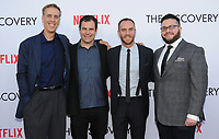 "29 March 2017 - Los Angeles, California - Alex Orlovsky, Charlie McDowell, Justin lader.  Premiere Of Netflix's ""The Discovery"" held at The Vista Theater in Los Angeles. Photo Credit: Birdie Thompson/AdMedia"