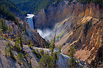 Wyoming, Yellowstone National Park. Lower Yellowstone Falls in the Grand Canyon of the Yellowstone, in Yellowstone National Park.