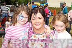Jennifer, Madeline and Sarah McCarthy Firies enjoying the family funday in Firies village on Sunday..
