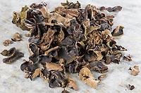 Judasohr, Judasohren getrocknet, getrocknete Pilze, Trockenpilz, Trockenpilze, Dörrpilze, Dörrpilz, Ohrlappenpilz, Holunderschwamm, Judas-Ohr, Ohrlappen-Pilz, Holunder-Schwamm, Holunderpilz, Mu-Err, Auricularia auricula-judae, Hirneola auricula-judae, Auricularia auricula, Auricularia sambucina, Jew's ear, wood ear, jelly ear, Oreille de Judas, Oreille du diable
