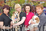 WOOF WOOF: Preparing for a charity dog show which will be held in Listowel on Sunday next, l-r: Joanne Riordan, Lisette Sheehy, Mary Boyle, Danny Russell.