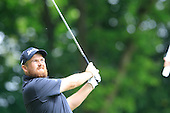 Shane LOWRY (IRL) drives at the 2nd hole during the final round of the 2015 BMW PGA Championship over the West Course at Wentworth, Virgina Water, London. 24/05/2015<br /> Picture Fran Caffrey, www.golffile.ie