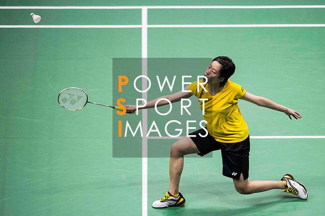 Cheung Ngan Yi of Hong Kong competes against Pusarla V. Sindhu of India during their Women's Singles Semi-Final of YONEX-SUNRISE Hong Kong Open Badminton Championships 2016 at the Hong Kong Coliseum on 26 November 2016 in Hong Kong, China. Photo by Marcio Rodrigo Machado / Power Sport Images