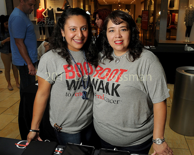 Daisy Guzman and Veronica Garza at the M.D. Anderson Back to School Fashion show at the Galleria Saturday Aug. 06,2016.(Dave Rossman Photo)