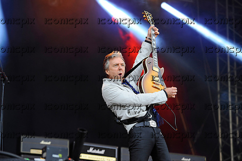THUNDER - guitarist Ben Matthews - performing live n Day Two of the Ramblin' Man Fair at Mote Park Maidstone Kent UK - 24 Jul 2016.  Photo credit: Zaine Lewis/IconicPix