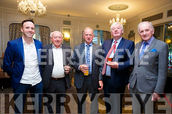 At the Fine Gael celebration in honour of Jimmy Deenihan in The Rose Hotel on Friday were Tom Neville TD,Maurice Hartnett, Finbar Prendeville, Pius Horgan, Dan Neville