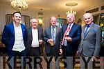 At the Fine Gael celebration in honour of Jimmy Deenihan in The Rose Hotel on Friday were Tom Neville TD,Maurice Hartnett, Finbar Prendeville, Pius Horgan, Dan Neville