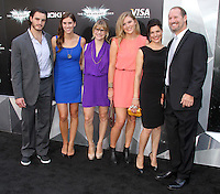 NEW YORK, NY - JULY 16:  Bill Cowher and Family at 'The Dark Knight Rises' premiere at AMC Lincoln Square Theater on July 16, 2012 in New York City.  © RW/MediaPunch Inc.