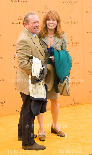 Stephanie Powers arriving for for the Veuve Cliquot Gold Cup Final at Cowdrey Park in Sussex. 17/07/2011 Picture by: Simon Burchell / Featureflash.