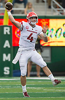 NWA Democrat-Gazette/BEN GOFF @NWABENGOFF<br /> Ty Storey, Arkansas quarterback, throws a pass in the 1st quarter vs Colorado State Saturday, Sept. 8, 2018, at Canvas Stadium in Fort Collins, Colo.