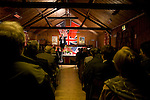 Laurence Rees talking at the Wootton talks.. A  Series of talks to raise funds for the village hall in Wootton,  Oxfordshire.. The committee has managed to attract some fascinating and big name speakers to the small Oxfordshire village