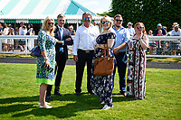 Racegoers in the Winners enclosure during Father's Day Racing at Salisbury Racecourse on 18th June 2017