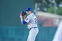 AZL Dodgers starting pitcher James Marinan (29) prepares to deliver a pitch against the AZL Athletics on August 4, 2017 at Lew Wolff Training Complex in Mesa, Arizona. AZL Dodgers defeated the AZL Athletics 4-1. (Zachary Lucy/Four Seam Images)