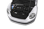 Car Stock 2015 Volkswagen Beetle - 2 Door Convertible 2WD Engine high angle detail view