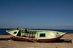 Abandoned fishing boat, Mogan, Gran Canaria, Canary Islands, Spain