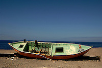 Abandoned fishing boat, Mogan, Gran Canaria, Canary Islands, Spain