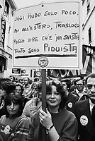- demonstration of  publishing house Rizzoli - Corriere della Sera employees against the interferences of the freemasonic diverted lodge P 2 in the management of the group (October 1981)<br />