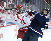 Charlie McAvoy (BU - 7), Kasperi Ojantakanen (UConn - 23) - The Boston University Terriers defeated the visiting University of Connecticut Huskies 4-2 (EN) on Saturday, October 24, 2015, at Agganis Arena in Boston, Massachusetts.