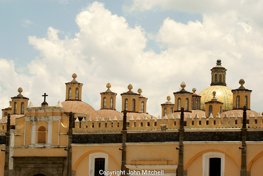 The 16th century Capilla Real in the Ex-Convento de San Gabriel, Cholula, Puebla, Mexico. Cholula is a UNESCO World Heritage Site.