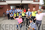 Eight Gardai are cycling the Ring of Charity cycle in Uniform on official Garda Mountain Bikes along with around forty other Gardai doing the cycle while raising funds for Kerry Hospice. front from left Ger Power, Trish Fitzpatrick, Chief Supt Pat Sullivan, Seamus Moriarty, Aidan O'Mahony and Ted Moynihan, Kerry Hospice.