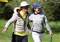 Vivian Lu celebrates winning the New Zealand Women's Amateur Championship. New Zealand Amateur Championship, Wairakei Golf Course and Sanctuary, Taupo, New Zealand, Sunday 4  November 2018. Photo: Simon Watts/www.bwmedia.co.nz