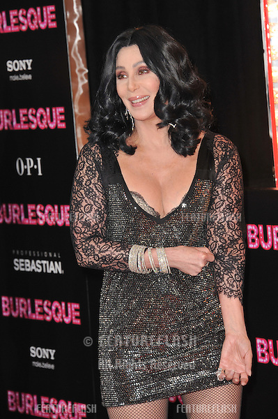 "Cher at the Los Angeles premiere of her new movie ""Burlesque"" at Grauman's Chinese Theatre, Hollywood..November 15, 2010  Los Angeles, CA.Picture: Paul Smith / Featureflash"