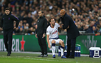 Tottenham Hotspur's Harry Kane is helped to his feet by Internazionale manager Luciano Spalletti <br /> <br /> Photographer Rob Newell/CameraSport<br /> <br /> UEFA Champions League Group B - Tottenham Hotspur v Internazionale - Wednesday 28th November 2018 - Wembley Stadium - London<br />  <br /> World Copyright © 2018 CameraSport. All rights reserved. 43 Linden Ave. Countesthorpe. Leicester. England. LE8 5PG - Tel: +44 (0) 116 277 4147 - admin@camerasport.com - www.camerasport.com